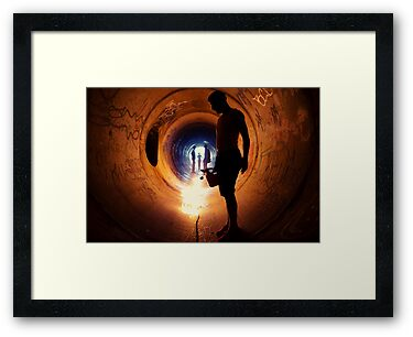 Burning Tunnel by Sam Muller by Reggie Destin Photo Benefit Page