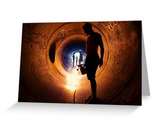 Burning Tunnel by Sam Muller Greeting Card