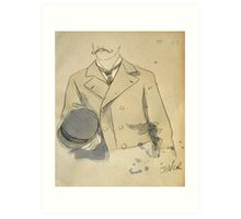 man with a bowler hat Art Print
