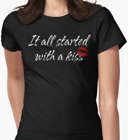 """Funny Maternity """"It All Started With A Kiss"""" T-Shirt"""