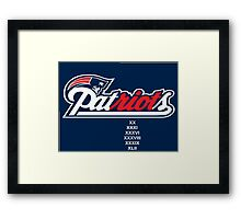 New England patRIOTs Framed Print