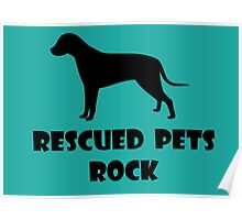 Rescued Pets Rock Poster