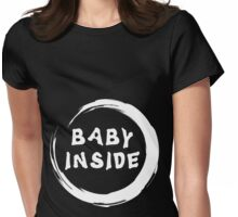 "Maternity ""Baby Inside"" Zen Womens Fitted T-Shirt"