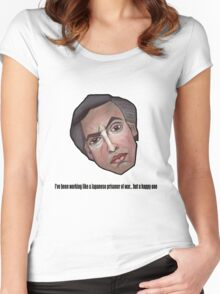 I've been working like a Japanese prisoner of war... but a happy one - Alan Partridge Tee Women's Fitted Scoop T-Shirt