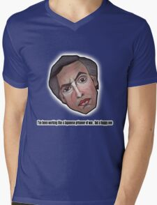 I've been working like a Japanese prisoner of war... but a happy one - Alan Partridge Tee Mens V-Neck T-Shirt