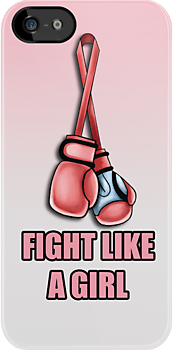 Fight Like a Girl - Breast Cancer by screamingtiki
