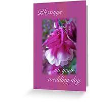 Wedding Blessings Greeting Card - Columbine Blossom Greeting Card