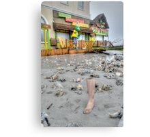 Hurricane Sandy has the sense of humour on Governor Woodes Rogers Walk in Nassau, The Bahamas Canvas Print