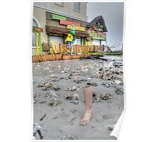 Hurricane Sandy has the sense of humour on Governor Woodes Rogers Walk in Nassau, The Bahamas Poster