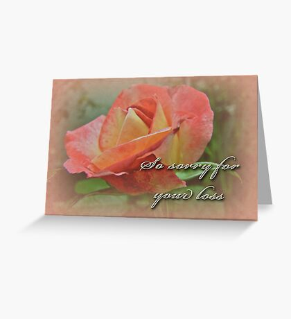 Sympathy Greeting Card - Peach Rose Greeting Card