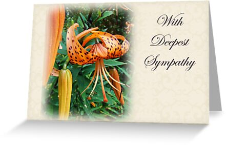 Sympathy Greeting Card - Wildflower Turk's Cap Lily by MotherNature