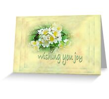 Wedding Wishing You Joy Greeting Card - Wildflower Multiflora Roses Greeting Card