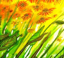 Sizzling Sunflowers  Sticker