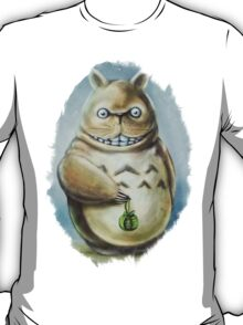 Totoro Communis Domestica Tra Digital Painting T-Shirt