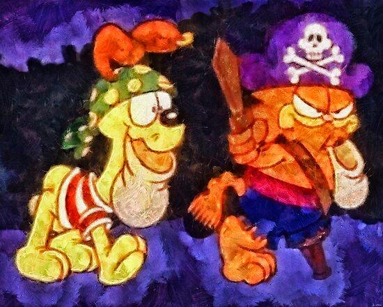 Garfield Halloween by Joe Misrasi