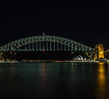 Sydney Harbour at Night by JaskoHusic