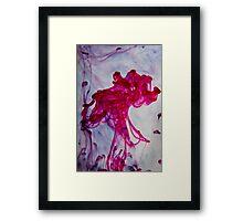 Red Ascent Framed Print