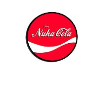 Enjoy Nuka Cola - Round - White iCASE by HighDesign