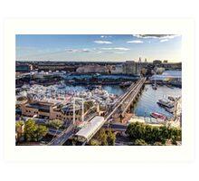 Darling Harbour Boat Show Art Print