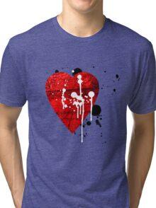 graffiti heart love Tri-blend T-Shirt