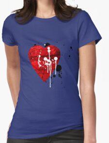 graffiti heart love Womens Fitted T-Shirt