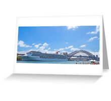 Carnival Cruises in Sydney Docked Greeting Card