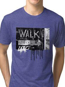 graffiti walk arrow Tri-blend T-Shirt