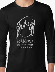 Ramona Flowers (on Black) Long Sleeve T-Shirt