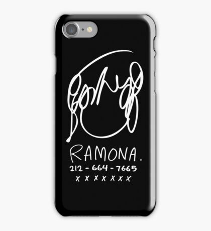 Ramona Flowers (on Black) iPhone Case/Skin