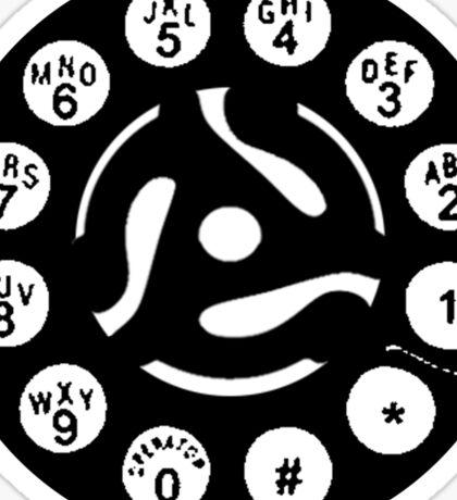 dial 45 rpm Sticker