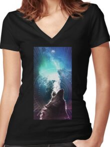 Call of the Wild Women's Fitted V-Neck T-Shirt