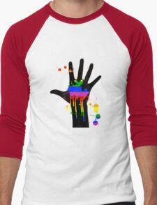 rainbow in my hand Men's Baseball ¾ T-Shirt