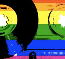 rainbow tape remix Sticker
