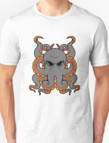 Insane Octopus Illustration. T-Shirt