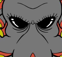 Insane Octopus Illustration. Sticker