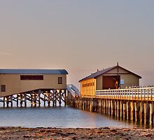 Sheds on the Jetty by John Sharp