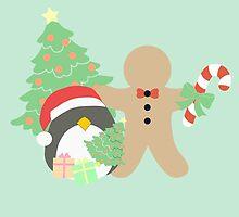 Penguin & Gingerbread #4 by simplepaperplan