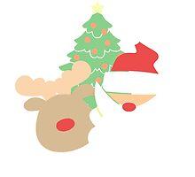 Santa & Reindeer #1 by simplepaperplan