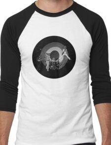 The Hoo Black and White Version (The Kids Owl Alright) Men's Baseball ¾ T-Shirt