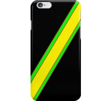 Black and yellow stripe iPhone Case/Skin