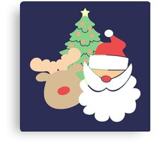 Santa & Reindeer #2 Canvas Print