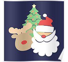 Santa & Reindeer #2 Poster