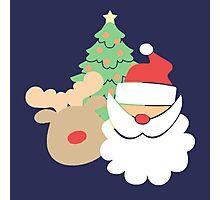 Santa & Reindeer #2 Photographic Print