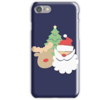 Santa & Reindeer #2 iPhone Case/Skin