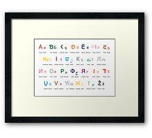 Lingua Francas Colour Framed Print