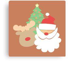 Santa & Reindeer #3 Canvas Print