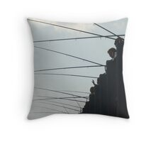 Fishing in the Bosphorus Throw Pillow