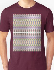 purple multi colored mirror T-Shirt