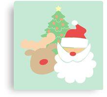 Santa & Reindeer #4 Canvas Print