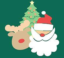 Santa & Reindeer #5 by simplepaperplan
